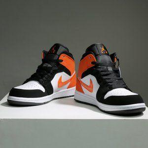 Nike Jordan dunks a rebound
